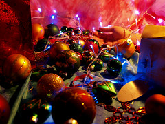 It's the Most Wonderful Time of the Year (red-head-bed-head) Tags: christmas decorations lights hand presents baubles knockedover hourofthediamondlight stillviolence