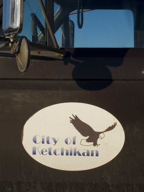 Ketchikan, Alaska, city logo on truck,
