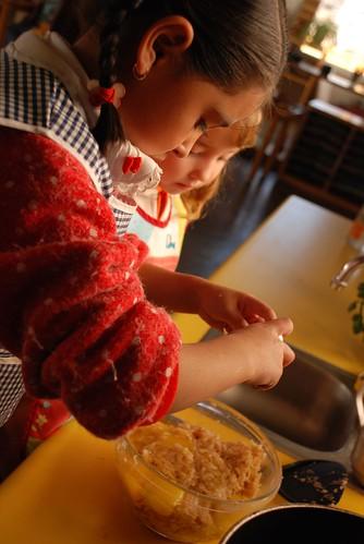hanukkah - preparing the latkes