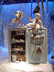 Christmas window of the Printemps