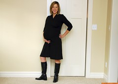 Black dress (Sundry) Tags: 32weekspregnant workingcloset