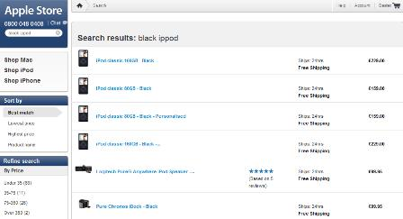 Apple site search