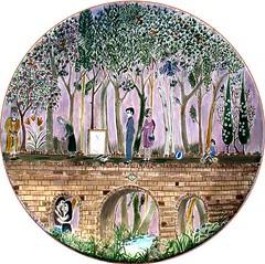 Bridge of life (azadiart) Tags: art painting ceramic miniature persian artist texas painted paintings houston plate mystical plates sofi iranian porcelain kermanshah kurdish kurd