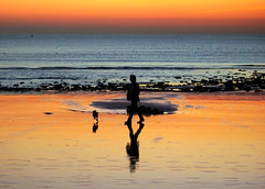2712 Walking on Le Havre beach in France   (Rolye) Tags: sunset sky france beautiful wonderful soleil photo yahoo google fantastic flickr view shot searchthebest superb pentax photos shots gorgeous famous www images best havre technorati views dreams excellent extraordinaire normandie 1001nights coloured baidu thebest coucherdesoleil aftersunset cubism lehavre imagesgooglecom  flickrphotos     beautysecret supershot yahoophotos remarquable mywinners k10d pentaxk10d groovygang platinumphoto impressedbeauty superbmasterpiece imagesyahoocom thebestofday gnneniyisi llovemypic portlehavre lehavrebeach taggalaxycom francenormandielehavre