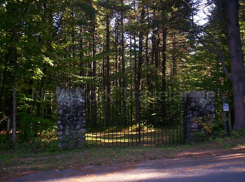 Stone and Iron Gate at Round Lake Rd