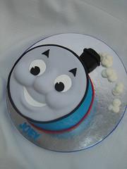 Thomas Face Cake (springlakecake) Tags: face cake train tank thomas engine
