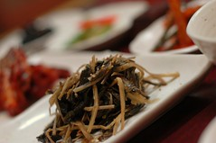 Korean food : greens (hellaOAKLAND) Tags: food feast nikon d70 good beef side korea delicious korean dishes 20 eats kimchi cheap won iatethis tartare 15000 iatehere yeongju yeongjusi