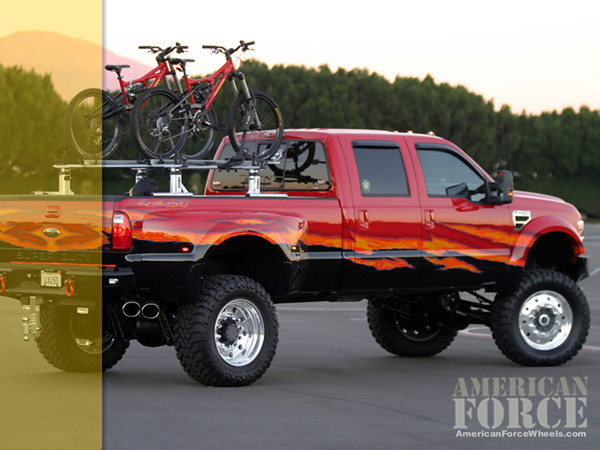 wallpaper fordf450 orangetruck supersinglewheels
