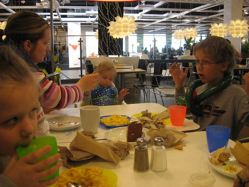 Eating lunch at IKEA