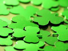 Happy St. Patrick's Day (jciv) Tags: desktop wallpaper irish macro green foil confetti clover shamrocks stpatricks shamrock stpatricksday raynox 430ex file:name=img7679