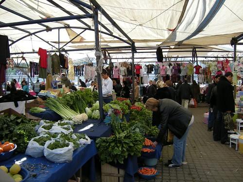 the Yesilkoy market