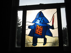 Darth Vader Stained Glass Window
