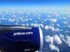 B6 915 JFK-SFO 8JUN2016 (kenjet) Tags: b6 jetblue jetblueairways flying aviation airbus a321 a321200 a321231 n946jl thismagicmomint momint flight plane jet aircraft flugzeug aerial view aerialview fromthewindow windowseat engine sky earth landscape cloud clouds weather