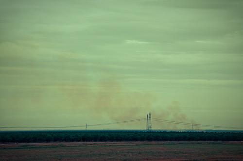 Smoke on I-5