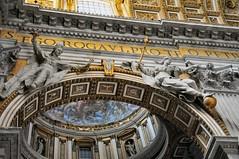 Rome - Saint Peter's Basilica Inside (mbell1975) Tags: city italy vatican rome roma church saint del see italian europa europe italia dom basilica kirche eu vaticano holy peter della peters lazio citt pietro stato