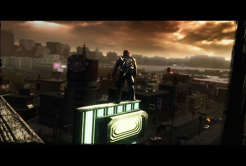 inFAMOUS (On top of building) trailer screenshot