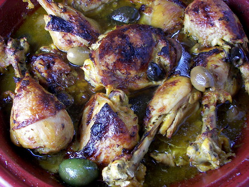 Moroccan Chicken Tagine with Preserved Lemon and Olives