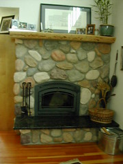 Indoor Stone Fireplaces