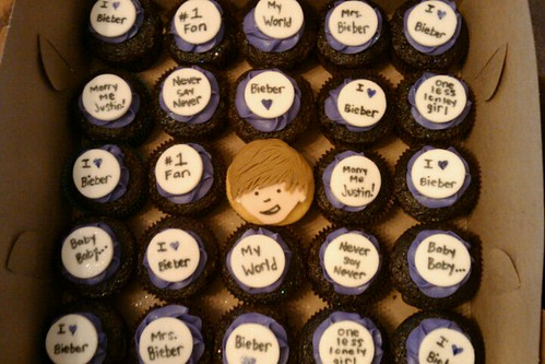 Justin Bieber Cupcakes by Little Sweeties Cupcakes