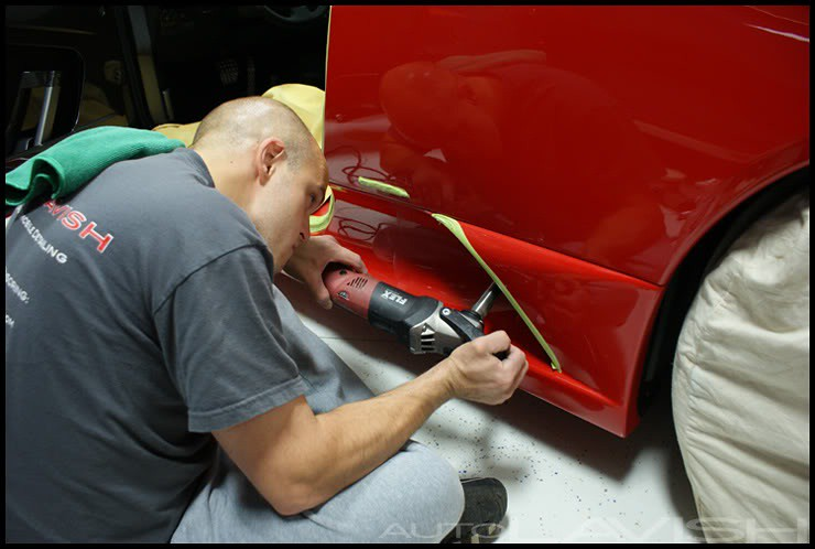 polishing a ferrari 430 scud