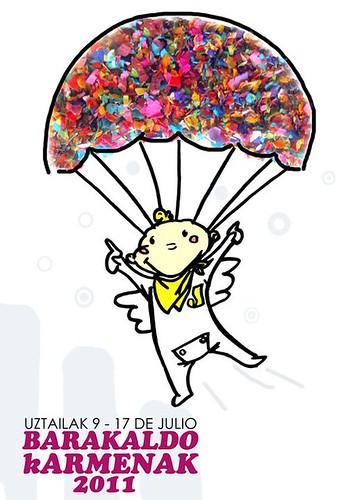 Cartel 2. Concurso Carteles de Fiestas de Barakaldo 2011