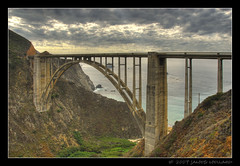 Historic Bixby Bridge (Mellard) Tags: ocean california bridge sea seascape water landscape coast scenic bigsur bayarea hdr hwy1 bixbybridge 5xp mellard