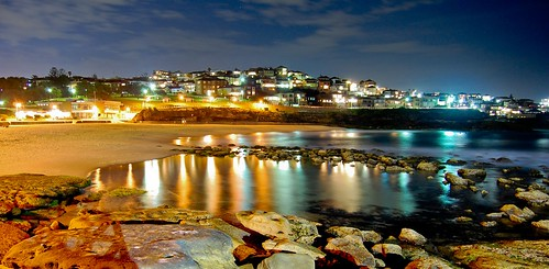 Bronte Beach at Night