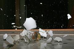 Death of a Light Bulb (laszlo-photo) Tags: light glass lightbulb bulb death flying break action gravity explode highspeed strobe shutterrelease implode eos5d flyingglass thatsclassy