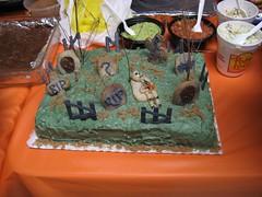 Cynthia's graveyard cake. (10/31/07)