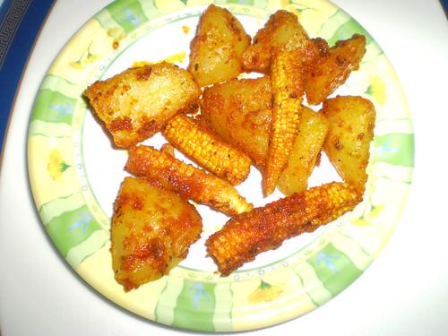 potato n baby corn
