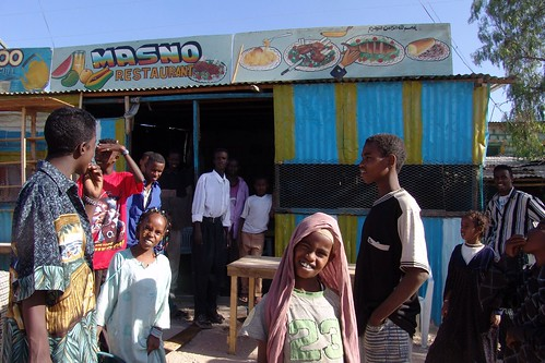 Somaliland - Hargeisa - outside the Masno restaurant