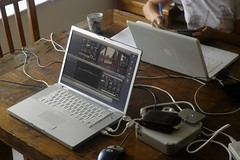 iMovie editing in proress
