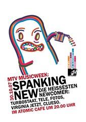 spanking new (timrobot) Tags: music television munich poster joseph design tim sticker character mtv week minoru wolff 2007 timrobot hanopol