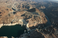 The Hoover Dam (~~[(QTR)]~Mubarak~) Tags: usa water river sand colorado ride desert south nevada helicopter mighty soe thehooverdam stateofnevada