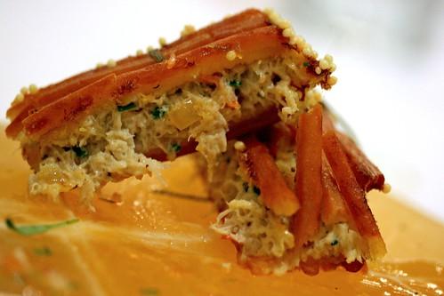 Pretzel-Crusted Crabcake, innards