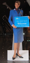 Welcome (bogers) Tags: blue holland netherlands dutch blauw december nederland bleu malaysia kualalumpur klm stewardess bogers 2007 airhostess basbogers airgirl
