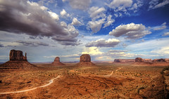 Valley Drive (Wolfgang Staudt) Tags: travel red summer arizona sky usa mountains beautiful yellow clouds sunrise landscape utah spring amazing nikon sandstone butte desert nikond70 sigma northernarizona wilderness navajo monumentvalley vacancy navajoreservation soe lonelyness coloradoplateau navajoindianreservation navajonation travelphotographie highway163 din abigfave tsbiindzisgaii wolfgangstaudt sigmaaf4561020dchsm impressedbeauty 66111 superhearts tribehorizon fiveflickrfavs