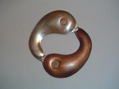 yin yang bracelet (adornstudios) Tags: silver handmade ooak yang bracelet copper studios yin adorn metalsmithing adornstudios