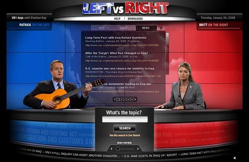 Left vs. right search