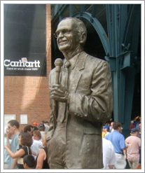 Ernie Harwell statue at Comerica Park in Detroit, MI by whatsthediffblog, on Flickr