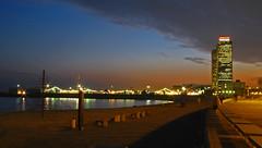 Momentos......lugares (SlapBcn) Tags: barcelona longexposure sunset beach atardecer noche playa marbella platja vilaolimpica canong7 slapbcn
