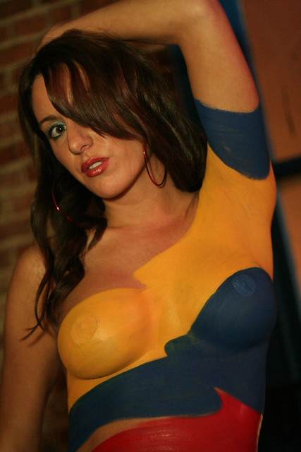 body whole painting and nice boob photo