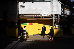 (tijo) Tags: street city light london yellow construction shadows transformation bright sunny pf lombardstreet londonist ldn tijo tiffanyjones mobformat11streetnoir