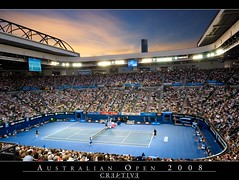 Australian Open 2008 - Men's Final (CR3A71V3) Tags: sunset people court slam stadium crowd january australia melbourne tennis nadal serve australianopen grandslam asiapacific rodlaverarena tsonga