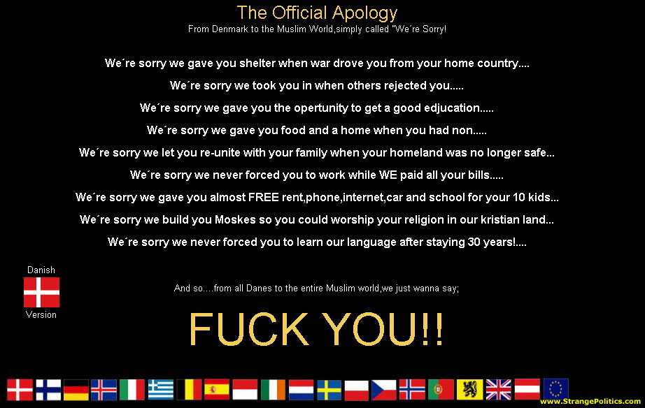 Official Danish Apology