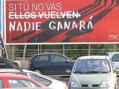 nadie ganará (nadie en campaña) Tags: billboard rajoy valla politica nadie zapatero