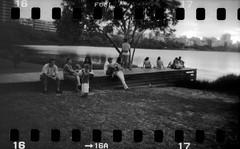 pier (luisa fosco) Tags: bw 120 film riodejaneiro 35mm iso100 blackwhite holga fuji ss holes neopan lagoa sprockets cfn