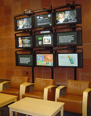 TV Screens at Farmington PL from Flickr
