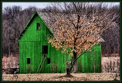A Little Green Barn (Rascaille Rabbit) Tags: green barn illinois bloomington bloomingtonillinois supershot mcleancounty greenbarn mcleancountyillinois