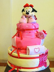 I Love Minnie Mouse Diaper cake